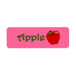 Customizable Apple Bakery Labels