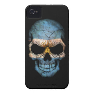 Customizable Argentine Flag Skull iPhone 4 Case