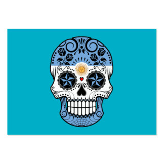 Customizable Argentinian Sugar Skull with Roses Business Cards