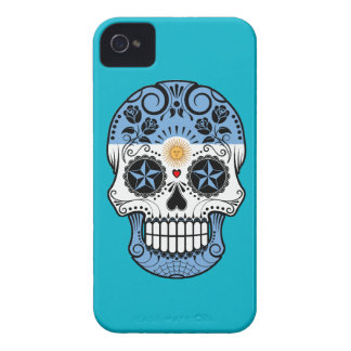Customizable Argentinian Sugar Skull with Roses iPhone 4 Case-Mate Case