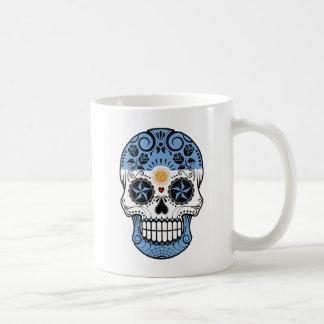 Customizable Argentinian Sugar Skull with Roses Mugs