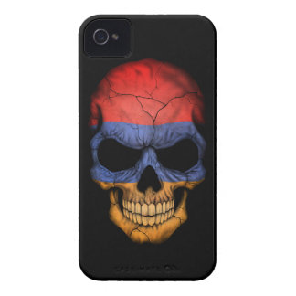 Customizable Armenian Flag Skull iPhone 4 Case-Mate Case