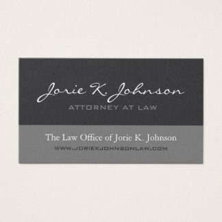 Customizable Attorney Business Cards
