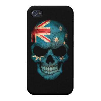 Customizable Australian Flag Skull Case For iPhone 4