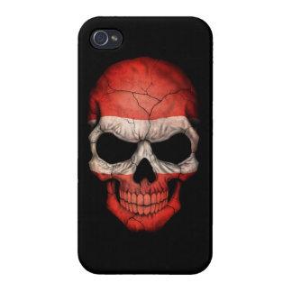 Customizable Austrian Flag Skull Cover For iPhone 4