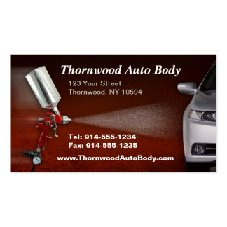 CUSTOMIZABLE Auto Body BC Pack Of Standard Business Cards