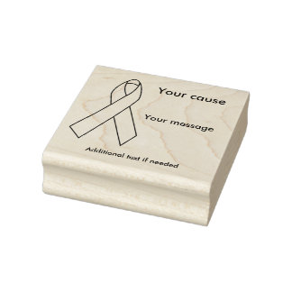 Customizable Awareness Ribbon Rubber Stamp