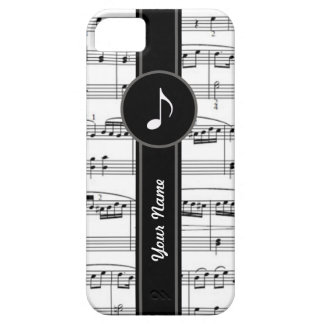 customizable b&w music notes case for the iPhone 5