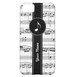 customizable b&w music notes iPhone 5C case