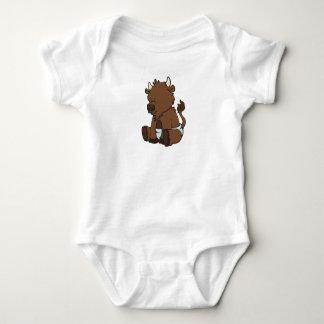 Customizable Baby Bison Baby Bodysuit