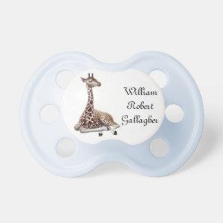 Customizable Baby Giraffe Pacifier