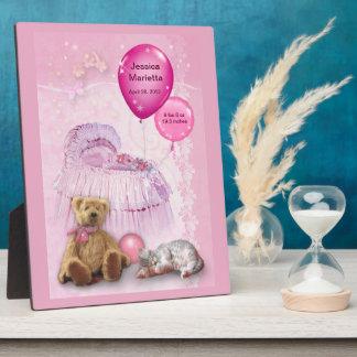 Customizable Baby Girl Plaque