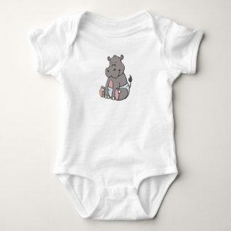 Customizable Baby Hippo Baby Bodysuit