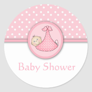 Customizable Baby Shower stickers