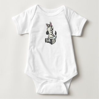 Customizable Baby Zebra Baby Bodysuit