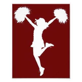 Customizable Background Cheerleader Cheerleading Photographic Print