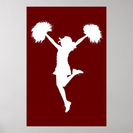 Customizable Background Cheerleader Cheerleading Poster