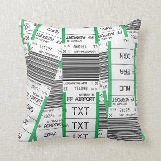 Customizable Baggage Tag Cushion