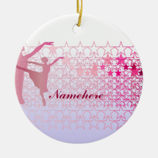 Customizable: Ballerina Round Ceramic Decoration