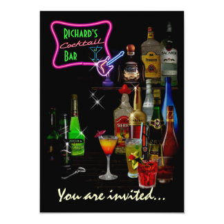 Customizable Bar 13 Cm X 18 Cm Invitation Card