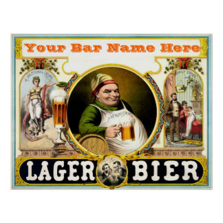 Customizable Bar Poster