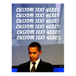 Customizable Barack Obama Postcard