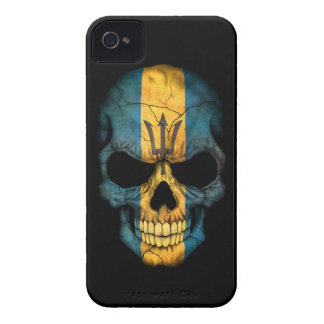 Customizable Barbados Flag Skull iPhone 4 Cases