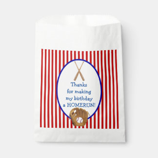 Customizable Baseball Birthday party favor bag