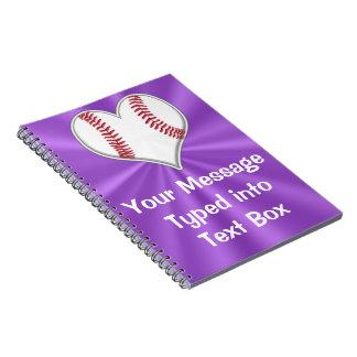 Customizable Baseball Notebook for Girls