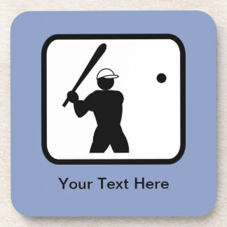 Customizable Baseballer Logo Coaster