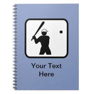Customizable Baseballer Logo Notebook