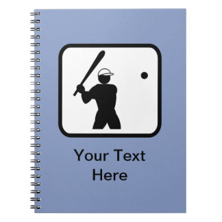 Customizable Baseballer Logo Notebooks