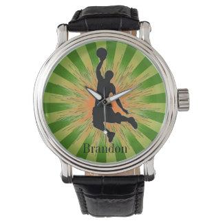 Customizable Basketball Design Watch