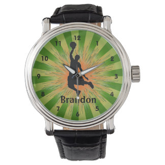 Customizable Basketball Design Watch