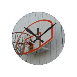 Customizable Basketball Hoop Design Round Clock