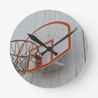 Customizable Basketball Hoop Design Wall Clocks
