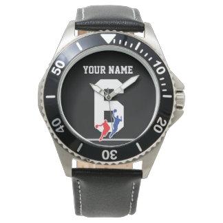 Customizable basketball jersey team colors… wrist watch