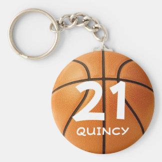 Customizable basketball keychain