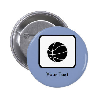 Customizable Basketball Logo 6 Cm Round Badge