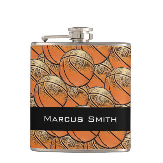 Customizable basketball pattern flask
