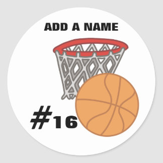 Customizable Basketball Stickers