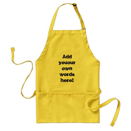 Customizable BBQ apron
