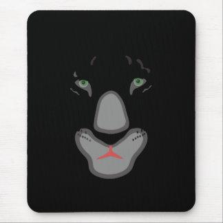 customizable beautiful black panther face. mouse pad