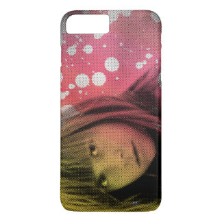 Customizable beautiful girl with color splash iPhone 7 plus case