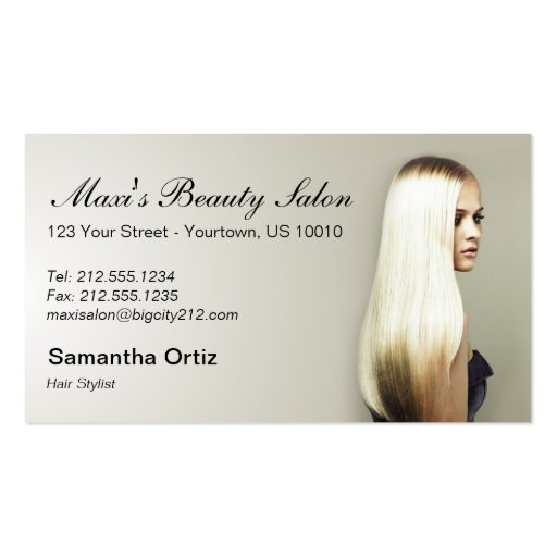 CUSTOMIZABLE Beauty Salon Business Cards