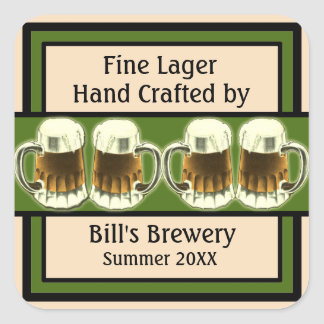 Customizable Beer Labels Stickers