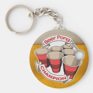 Customizable Beer Pong Champion Keychain