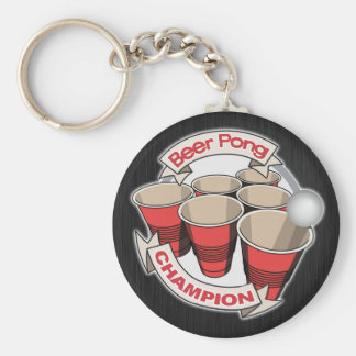 Customizable Beer Pong Champion Key Chains