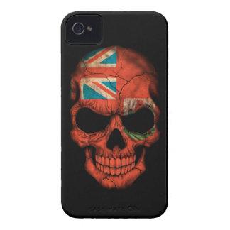 Customizable Bermudan Flag Skull Case-Mate iPhone 4 Case