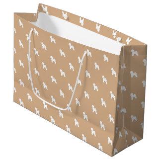 Customizable Bichon Frise Silhouette Gift Bag (L)